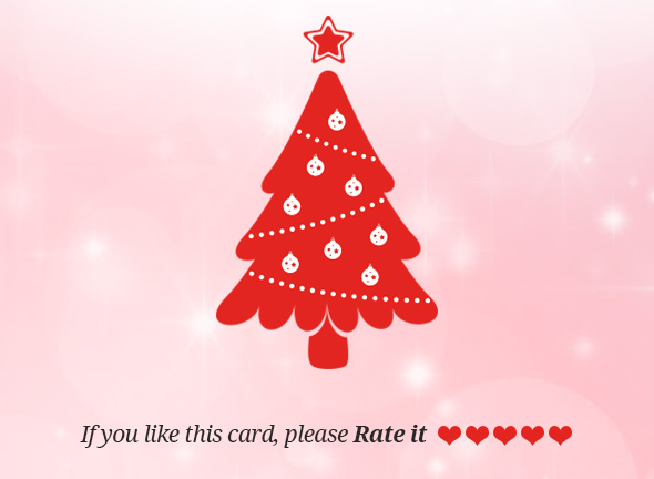 Christmas Greeting Card Rate Us Edit
