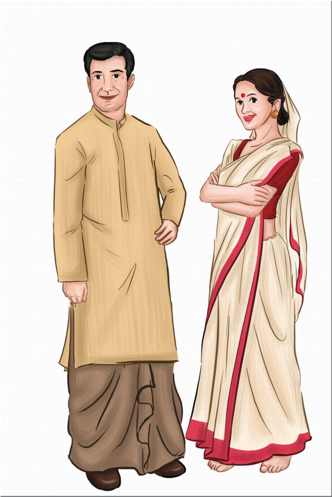 Indian Attire Illustrations