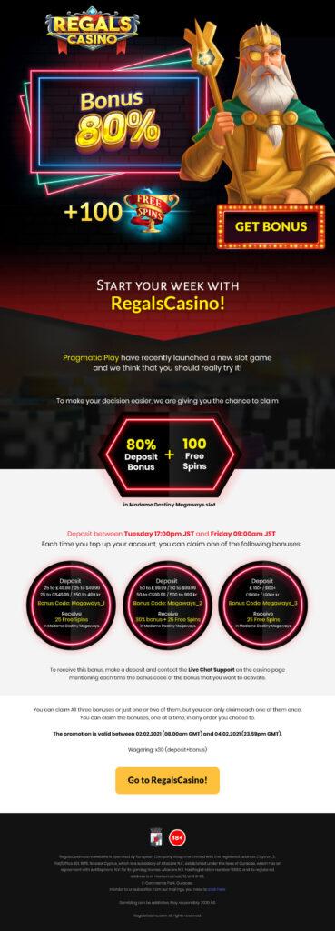 Regals Casino Emailer