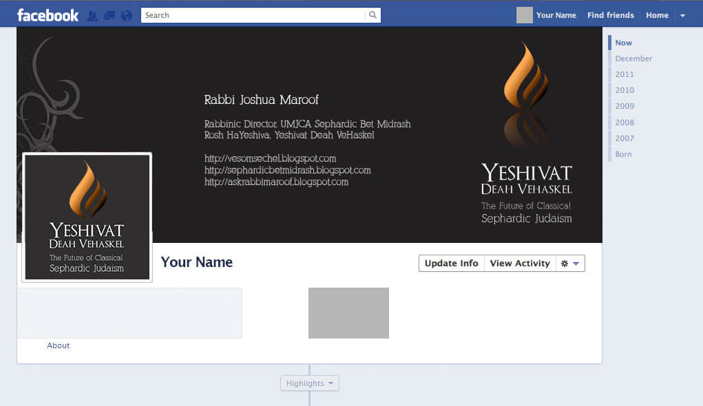 Yeshivat Facebook Cover